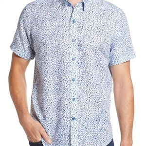 ROBERT GRAHAM Patrick Floral Linen Blend Shirt